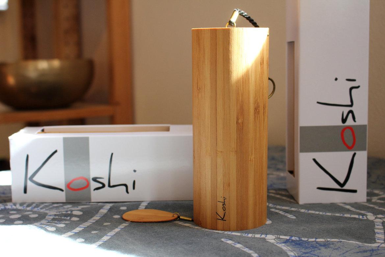 De Koshi windgong wordt geleverd in een  doosje